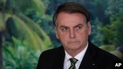 FILE - Brazilian President Jair Bolsonaro