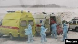 Российские медики готовятся к встрече эвакуированных из Уханя соотечественников.Тюмень. 5 февраля.