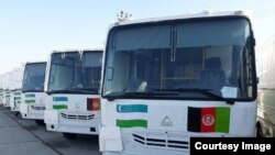 Uzbekistan Buses donated for Afghanistan