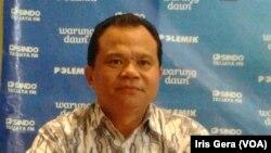 Kadiv Humas Polri, Irjen Pol Ronny F Sompie dalam diskusi mengenai Polri dan KPK di Jakarta, Sabtu, 24 Januari 2015 (Foto: VOA/Iris Gera)