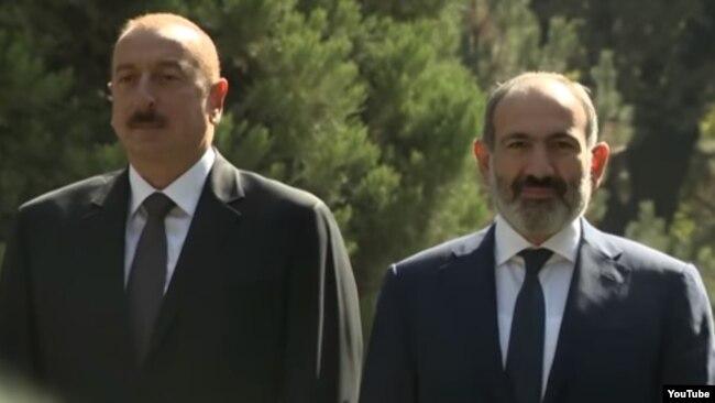 İlham Əliyev və Nikol Paşinyan-28.09.2018