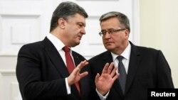 Петр Порошенко и польский президент Бронислав Коморовский, 17 декабря 2014