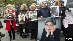 Пикет в память Анны Политковской. Москва. 7 октября 2012 г.