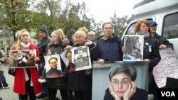 Moskvada Anna Politkovskaya yürüşüç 2012-ci il