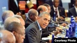美国总统奥巴马在美非峰会发言(美国国务院)