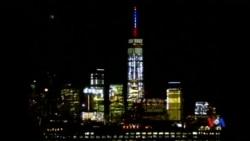 2015-11-14 美國之音視頻新聞: 紐約世貿中心頂端轉為法國國旗色彩