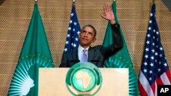 Tổng thống Mỹ Barack Obama phát biểu tại Liên minh châu Phi, thứ Ba 28/7/2015.
