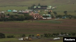 A general view shows funeral preparations being made around the property of late former South African President Nelson Mandela in Qunu, Eastern Cape, Dec. 12, 2013.
