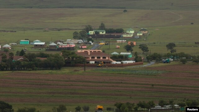 A general view shows funeral preparations being made around the property of late former South African President Nelson Mandela in Qunu, Eastern Cape, South Africa, Dec. 12, 2013.