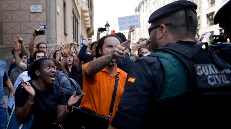 Voice of America, Spanish Police Arrest Catalan Officials Over Secession Vote