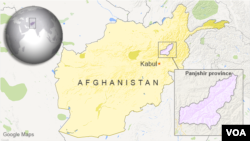 Map of Afghanistan showing Panjshir province