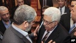 Халед Машаал и Махмуд Аббас