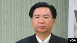 民进党新任驻美代表 吴钊燮(美国之音 张永泰拍摄)