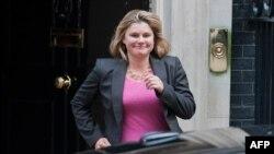Justine Greening,, la secrétaire d'Etat britannique au Développement international
