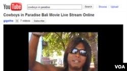 Film Cowboys In Paradise ini dapat disaksikan di situs online YouTube.