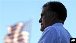 25일 오하이오주에서 유세를 펼치는 미트 롬니 미국 공화당 대통령 후보.