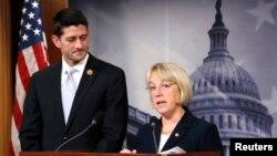 Senato ve Temsilciler Meclisi Bütçe Komisyonu Başkanları bütçe anlaşmasını açıklarken