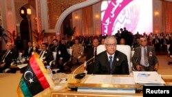Negara-negara Arab yang tergabung dalam Liga Arab melakukan pertemuan di Doha, Qatar (26/3). Negara-negara Arab menghadapi dilema terkait serangan Israel atas Suriah.