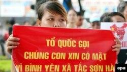 Ảnh minh hoạ: Biểu tình chống Trung Quốc tại Hà Nội.