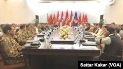پاکستانی فوج کے سربراہ جنرل باجوہ اور اعلیٰ حکام کے شیعہ ہزارہ کمیونٹی کے عمائدین سے امن و امان کی صورت حال پر بات چیت۔ یکم مئی 2018