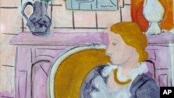 앙리 마티스의 작품 '벽난로 앞 푸른 옷의 여인'. (자료사진)