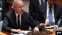안보리 산하 대북제재위원회 의장국인 네덜란드의 카렐 반 오스터롬 유엔 주재 대사.