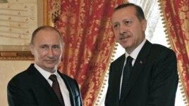 Serokwezîrê Tirkîyê Recep Tayyîp Erdogan û Serokê Rûsya'yê Vladimir Putin li Stenbolê ne