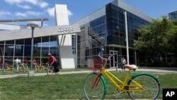 Kantor pusat Google di Mountain View, di kawasan Silicon Valley, California (foto; ilustrasi).