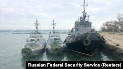 Листопад 2018, українські судна захоплені Росією