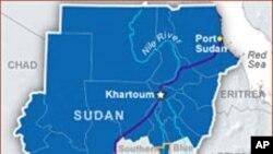 蘇丹與南蘇丹位置圖