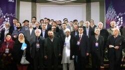 شرکت کنندگان پنجمین جشنواره بین المللی شعر فجر با حسینی وزیر ارشاد