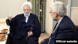 مصباح یزدی در دفتر سعید جلیلی، با او دیدار و گفتگو کرد.