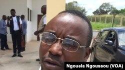 Dieu Merci Mbenza, président de la société civile du Pool, Kinkala, Congo, 20 mars 2018. (VOA/Ngouela Ngoussou)