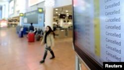 12月15日星期一布魯塞爾機場因全國罷工600個航班被取消。