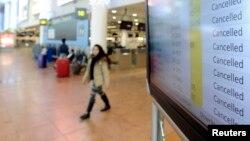 벨기에 노동자들이 정부의 긴축정책에 항의하는 총파업에 나선 가운데, 15일 브뤼셀 공항에서도 항공편이 줄줄이 결항됐다.