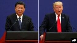Председатель КНР Си Цзиньпин. Президент США Дональд Трамп