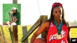 შერი სემი WNBA თასით და ორგზის ოლიმპიური ჩემპიონი რუთი ბოლტონი