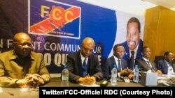 Bakambi ya FCC (Front commun pour le Congo) na bokutani na bapanzi sango, Kinshasa, 20 août 2019. (Twitter/FCC-Officiel RDC)