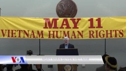 Ngày Nhân quyền Việt Nam năm 2018 cũng đón chào sự góp mặt của những tù nhân lương tâm Việt Nam được phóng thích và tới Mỹ trong thời gian gần đây.
