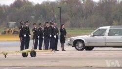 美国退伍军人节前韩战老兵遗骸返回家乡