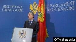 Predsjednički kandidat dijela opoziconih građanskih stranaka i Demokratskog fronta Mladen Bojanić, nekadašnji poslanik u Skupštini Crne Gore (foto: rtcg.me)