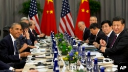 美國總統奧巴馬周四與中國國家主席習近平在華盛頓出席本屆核安全峰會。