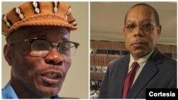 À esquerda, director do Folha 8 William Tonet e o director do Jornal de Angola Victor Silva
