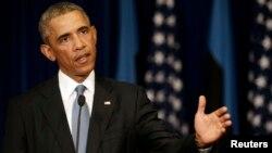 El presidente Obama habla sobre la estrategia contra el Estado Islámico en Tallin, Estonia.