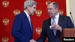 Джон Керри и Сергей Лавров. Москва. 15 декабря 2015г.