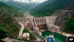 Đập Đại Triều Sơn ở thượng nguồn sông Mekong River thuộc tỉnh Vân Nam, Trung Quốc.