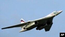 Российский стратегический бомбардировщик Ту-160