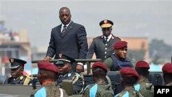 Tổng thống CHDC Congo Joseph Kabila trong cuộc diễu hành quốc gia hàng năm ở Kinshasa