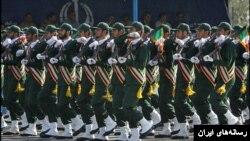 رژه نیروهای سپاه پاسداران در ایران
