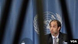 Utusan Khusus PBB untuk Burma, Tomas Ojea Quintana, menyampaikan laporannya kepada Dewan Hak Asasi PBB, Selasa (15/3).